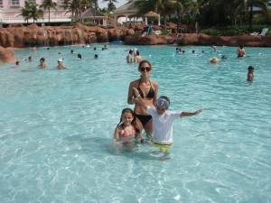 The kids and I in Atlantis